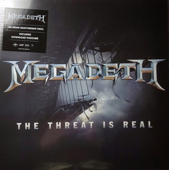 LP MEGADETH - THE THREAT IS REAL (NOVO/LACRADO/IMP) LP SINGLE 180g
