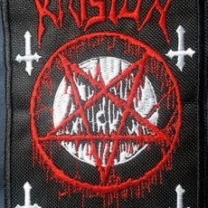 Patch Logo do Krisiun + Pentagrama Bordado (Grande)