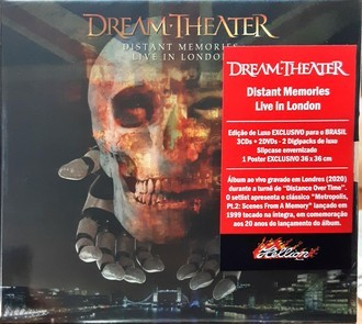 CD DREAM THEATER - DISTANT MEMORIES LIVE IN LONDON(NOVO/LAC)3CD+2DVD