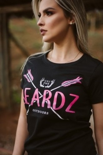 CAMISETA FEMININA PINK ARROW