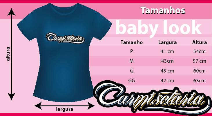 Tabela de medidas Baby Look