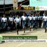 Escolares del VRAE rindieron homenaje a la bandera peruana