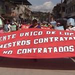 Maestros sin contrato de Padre Abad amenazan con huelga de hambre