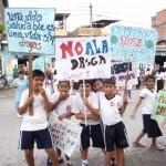 Multitudinario rechazo ciudadano a las drogas en Tingo María