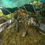 Policía destruyó cinco laboratorios de PBC y una tonelada de ácido sulfúrico en el Monzón