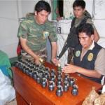 Encuentran granadas y proyectiles de guerra en encomienda que iba a Lima