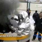 Incineraron más de tres mil kilos de drogas en la DINOES