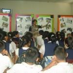 Escolares se capacitan sobre el impacto negativo de la cadena de las drogas