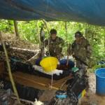 Policía antidrogas de Palmapampa desactivó cinco laboratorios de producción de PBC en Sivia, VRAE