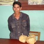 Policía intervino a dos personas que transportaban cuatro kilos de PBC