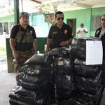 Policía de Cayumba decomisó 268 kilos de hoja de coca