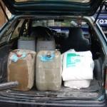 Detienen a tres sujetos que intentaban introducir insumos químicos al Valle del Monzón