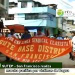 SUTE San Francisco realizó marcha pacífica en solidaridad a nativos caídos en Bagua