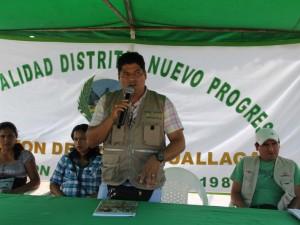Alcalde de Nuevo Progreso pide mayor articulación con Tocache