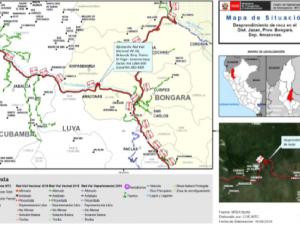 Amazonas: Tránsito interrumpido en vía El Tingo- Corontachaca
