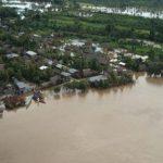 Río Napo desciende ligeramente su nivel de agua