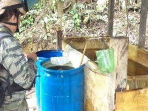 Destruyen más de 17 toneladas de hoja de coca en el Vraem