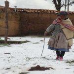 Campaña de solidaridad para auxiliar a afectados por el friaje en Huancavelica