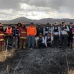 Puno: Extinguen incendio forestal en Los Uros