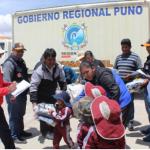 Monitorean entrega de ayuda humanitaria en Puno
