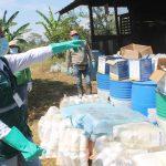Supervisan verifica programa en manejo de plaguicidas en Pangoa