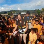 Policía llevó un momento de alegría a niños del Vraem