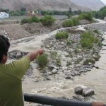 Moquegua: Analizan presencia de solución verdosa cerca al río Torata