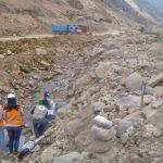 Supervisan estructuras hidráulicas de proyecto minero Quellaveco por lluvias