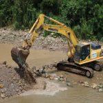 Inician descolmatación y encauzamiento del río Cumbaza