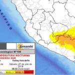 Sierra sur presentará descenso de temperatura nocturna