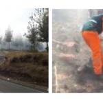 Extinguen incendio forestal en Cajamarca
