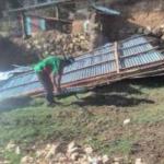 Ayuda humanitaria a damnificados por vientos fuertes en tres regiones