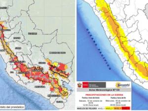 256 distritos de la sierra con riesgo muy alto de huaicos y deslizamientos