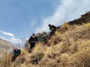 Cusco: Extinguen dos incendios forestales y cuatro continúan activos