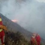 Cusco: Controlan incendios forestales en los distritos de Poroy y Lucre