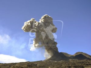 Cenizas en explosiones del volcán Sabancaya