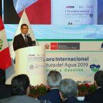 """Ministro Montenegro: """"Hay que dotar de manejo eficiente el agua porque es un recurso natural finito"""""""