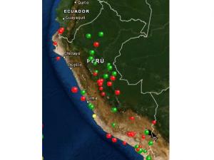 Registraron cuatro sismos a nivel nacional