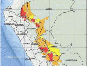 Unos 54 distritos de la selva en riesgo alto y muy alto de aluviones
