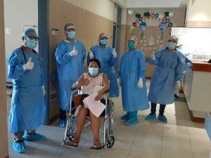Dan de alta a gestante con Covid-19 en el hospital de Tarapoto