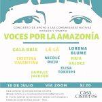Organizan concierto pro fondos para ayudar comunidades Awajún y Wampis