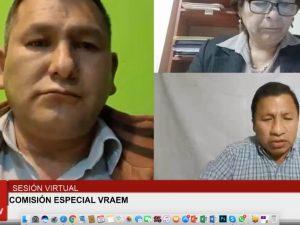Comisión Especial Vraem del Congreso aprueba creación de grupos por regiones