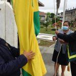 Bandera a media asta por aniversario 118 de Puerto Maldonado