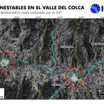 Identifican una posible nueva zona de deslizamiento en el valle del Colca