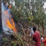 Extinguen incendios forestales en tres regiones