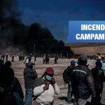 Incendian campamento de proyecto hídrico entre Puno y Tacna
