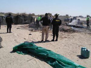 Incautan 10 toneladas de carbón vegetal en Lambayeque