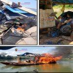 Destruyen dos dragas e insumos usados en minería ilegal en el río Pachitea
