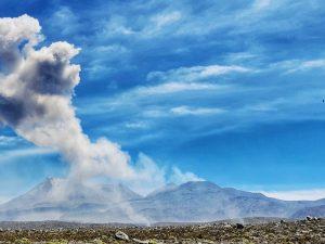 Proceso eruptivo del volcán Sabancaya tiene niveles moderados