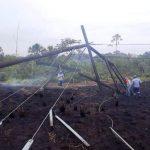 Quema de pastizales deja sin electricidad a localidades en San Martín